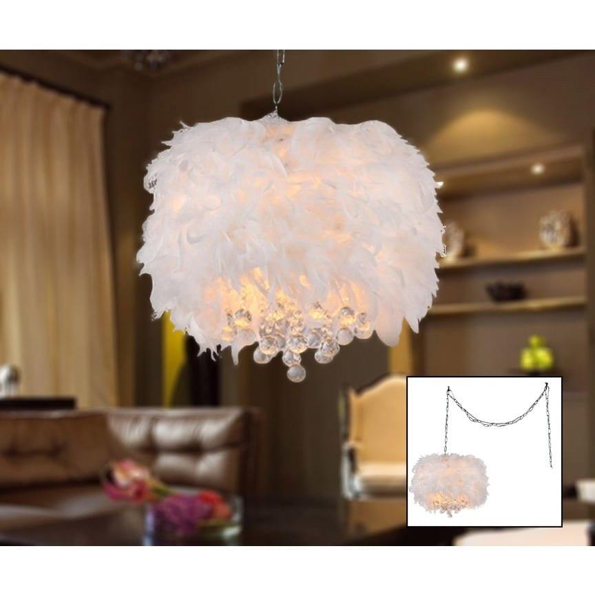 Warehouse of Tiffany Finna 3-light Feathered 15-inch Chro...