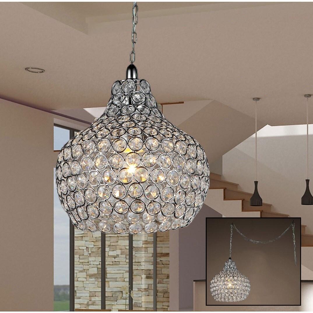 Warehouse of Tiffany Cecilia 1-light Crystal Cone 7-inch ...
