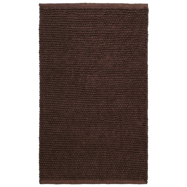 "Plush Nubby Chocolate (30""x50"") Bath Rug"