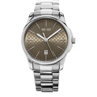 SO&CO New York Men's Madison Quartz Stainless Steel Bracelet Watch