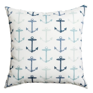 Sunline Anchors Indoor/ Outdoor Down and Feather 20-inch Throw Pillows (Set of 2)