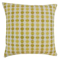 Erela Yellow Geometric Down and Feather Filled 18-inch Throw Pillow