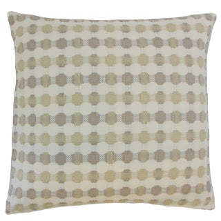 Erela Geometric Down and Feather Filled 18-inch Throw Pillow