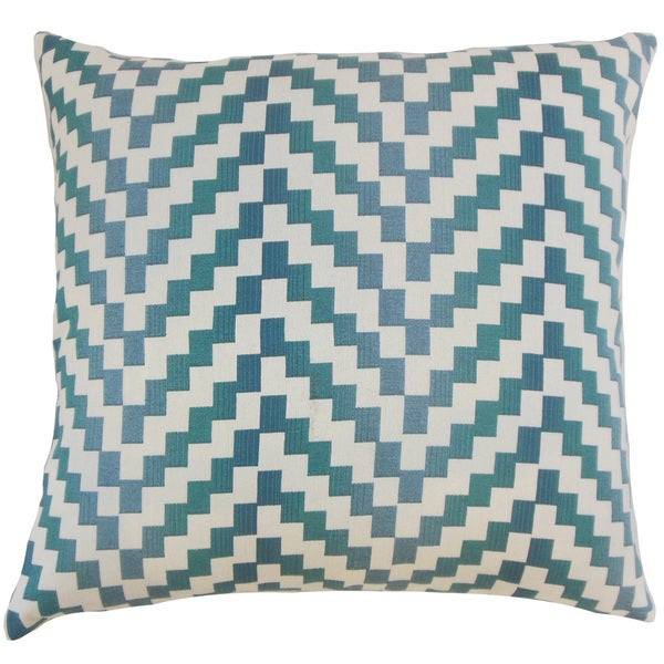 Dhiren Geometric Down and Feather Filled 18-inch Throw Pillow
