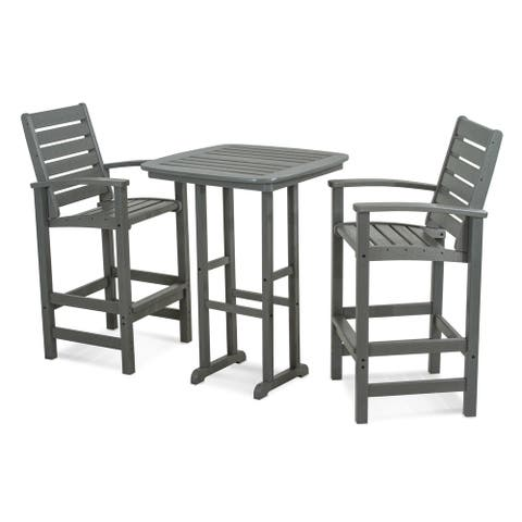 POLYWOOD® Signature 3-Piece Outdoor Bar Set with Table, PWS153-1