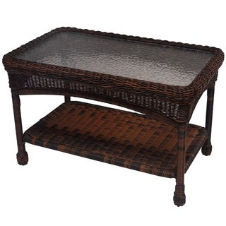 Premium 29 X 17.5 Resin Wicker Coffee Table