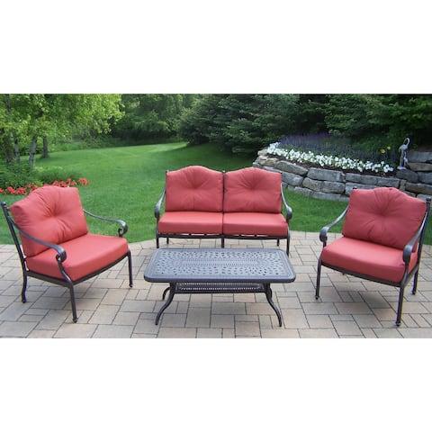 Verona Cushioned Aluminum 4-piece Deep Seating Set
