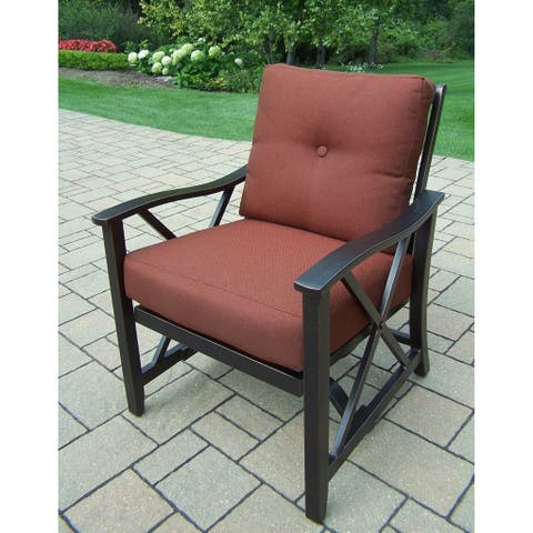 Cushioned Pair of Aluminum Deep Seating Rocking Chairs (Set of 2)