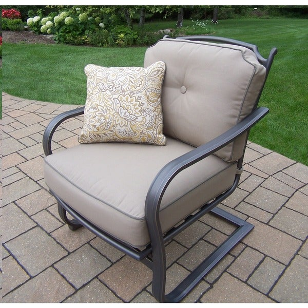 Cushioned Aluminum Deep Seating Spring Chairs Free