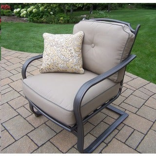 Cushioned Aluminum Deep Seating Spring Chairs