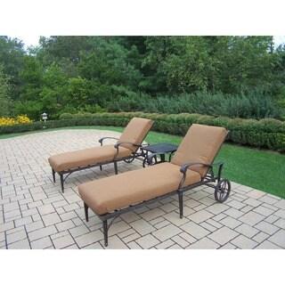 Premium Sunbrella Aluminum Lounge 3-piece Set