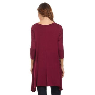 Moa Collection Women's Solid Knit Tunic
