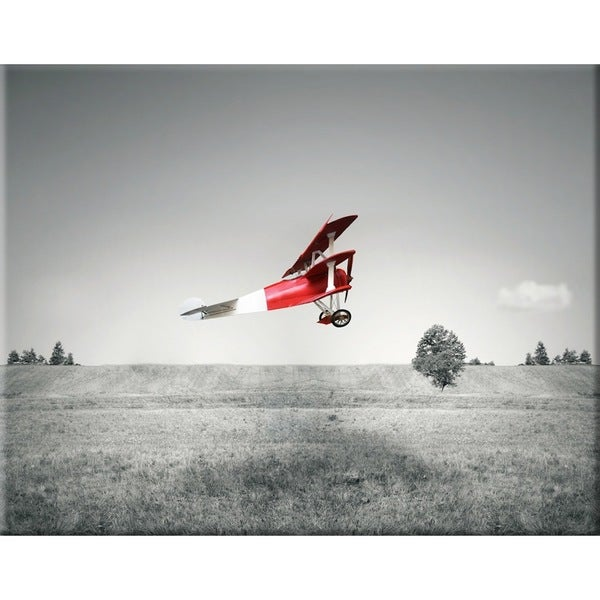 Benjamin Parker 'Going Up' 30 x 40-inch Giclee Canvas Wall Art - Grey