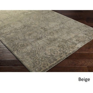 Hand Knotted Airport Wool Rug (4' x 6')