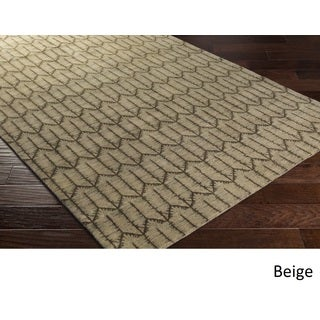 Hand Knotted Adentro Wool Area Rug - 8' x 10'
