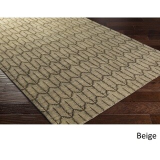 Hand Knotted Adentro Wool Area Rug - 9' x 13'