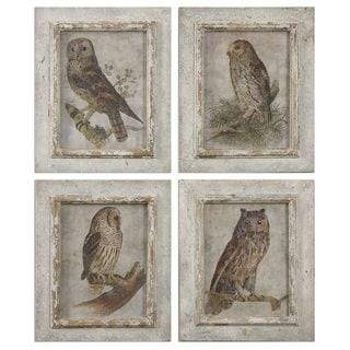 Owls Framed Art (Set of 4)