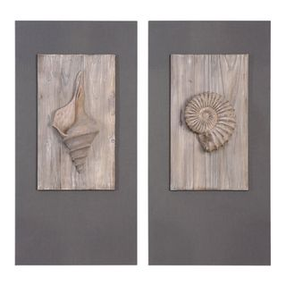Shell Sculpture Art (Set of 2)