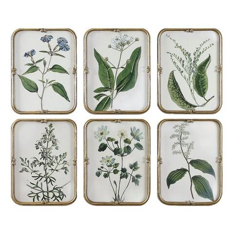 Blue Floral Art Collection (Set of 6)