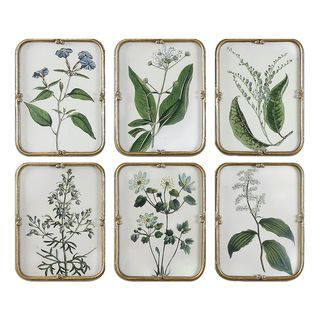 Blue Floral Art Collection (Set of 6)