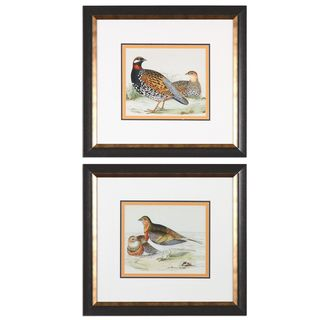 Pair Of Quail Framed Prints (Set of 2)