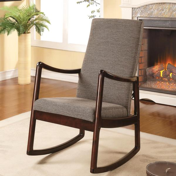 Amelia Contemporary Modern Upholstered Rocking Chair Free Shipping Today