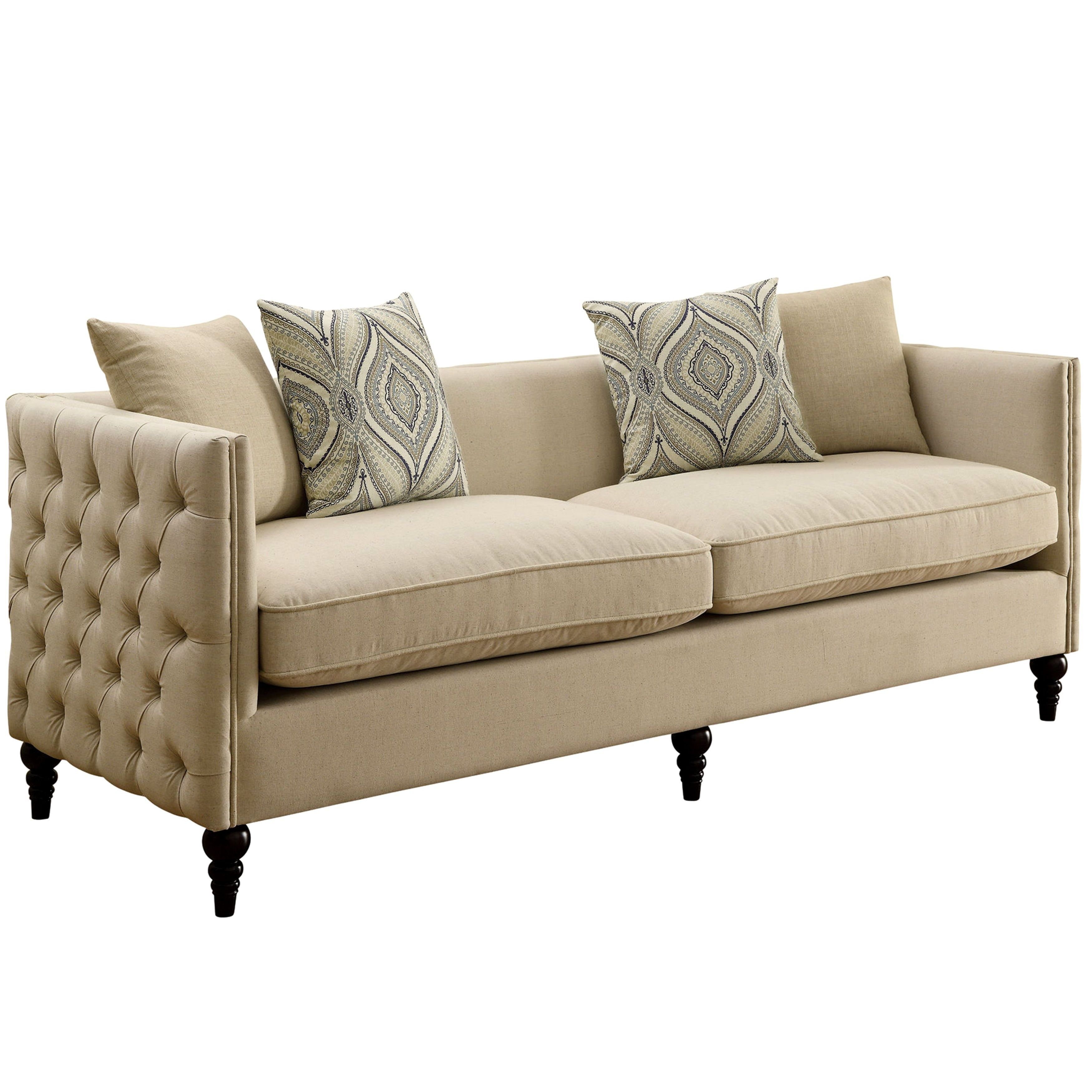 Alexander Mid-Century Living Room Collection with Tufted ...