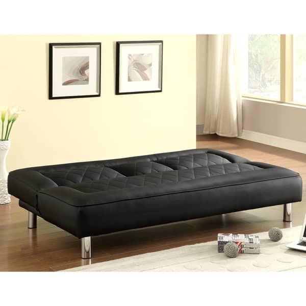Astonishing Shop Abysen Modern Decorative Black Quilted Design Sofa Bed Creativecarmelina Interior Chair Design Creativecarmelinacom