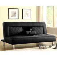 Abysen Modern Decorative Black Quilted Design Sofa Bed Lounger