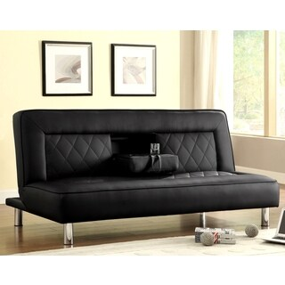 Abysen Modern Decorative Black Quilted Design Sofa Bed Lounger