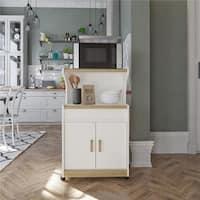Ameriwood Home Deluxe Microwave Cart - N/A