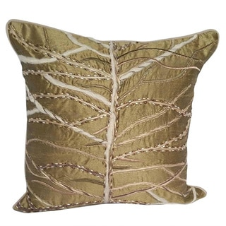 Polyester pillow with Jute & Pearl embroidery with polyester insert. AT-200