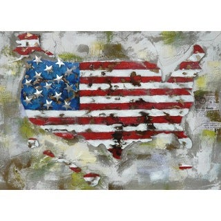 Benjamin Parker 'The States' 30 x 40-inch Mixed Media Wall Art