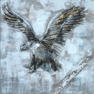 Benjamin Parker 'Eagle' 40-inch Mixed Media Wall Art