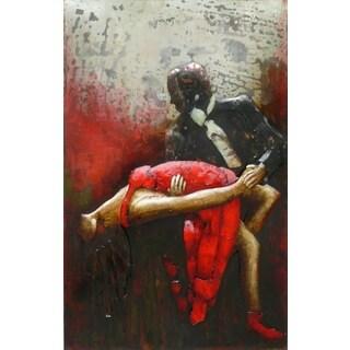 Benjamin Parker 'Dip' 31 x 47-inch Raised Metal Wall Art