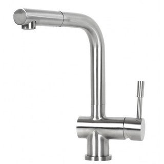 Flamingo Style Solid Stainless Steel Single Handle Pull Out Nozzle Faucet