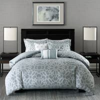 Madison Park Cecilia Blue 7-Piece Comforter Set
