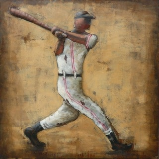 Benjamin Parker 'Baseball' 24-inch Raised Metal Wall Art