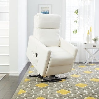 Oliver & James Bul White Power Lift Recliner