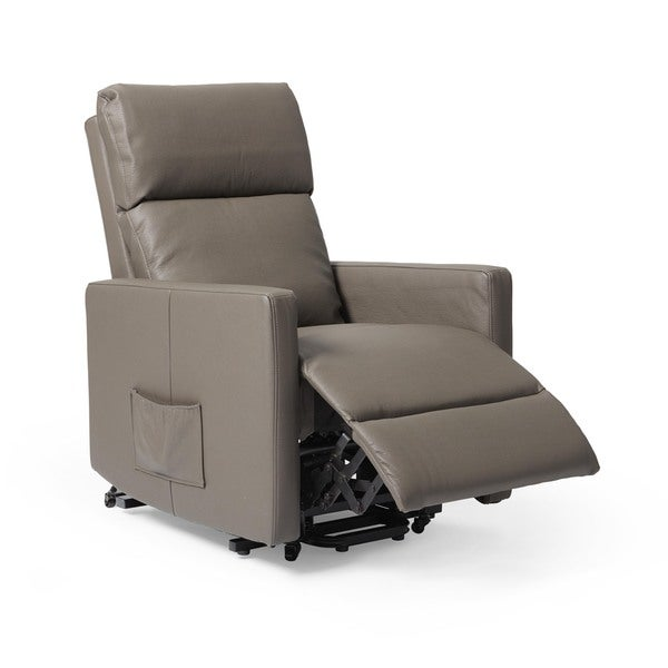 ProLounger Taupe Tuff Stuff Synthetic Leather Power Lift Wall Hugger Recliner - Free Shipping Today - Overstock.com - 18096036  sc 1 st  Overstock.com & ProLounger Taupe Tuff Stuff Synthetic Leather Power Lift Wall ... islam-shia.org