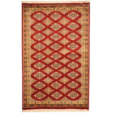 Handmade One-of-a-Kind Prince Bokhara Wool Rug (Pakistan) - 2'8 x 4'2