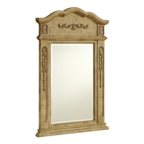 "Elegant Lighting Antique Beige Vanity Mirror (24"" x 36"")"