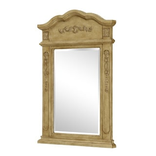 "Elegant Lighting Antique Beige Vanity Mirror (24"" x 36"")"