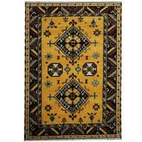 Herat Oriental Indo Hand-knotted Tribal Kazak Wool Rug - 5'8 x 8'
