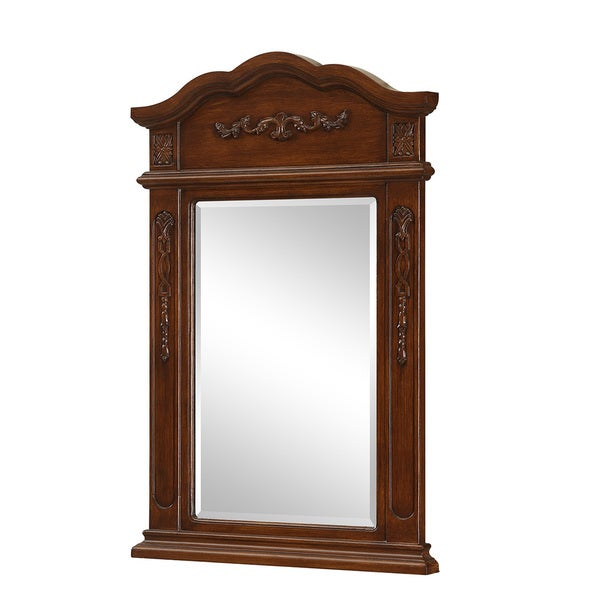 elegant lighting brown vanity mirror 24 x 36 free shipping to. Black Bedroom Furniture Sets. Home Design Ideas