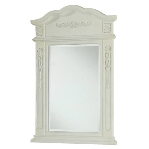 "Elegant Lighting Antique White Vanity Mirror (24"" x 36"") - Antique White"