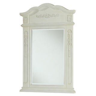 "Elegant Lighting Antique White Vanity Mirror (24"" x 36"")"