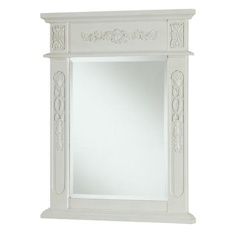"Elegant Lighting Antique White Vanity Mirror (22"" x 28"") - Antique White"