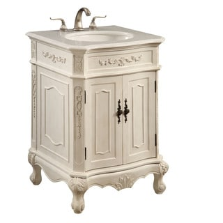 Elegant Lighting Antique White 2 Door Vanity Cabinet