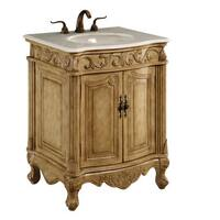 Elegant Lighting Antique Beige 2 Door Vanity Cabinet